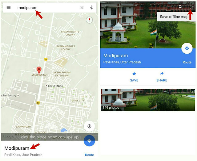 Search Place and Save Map