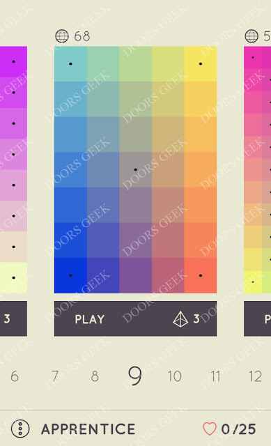I Love Hue Apprentice Level 9 Solution, Cheats, Walkthrough
