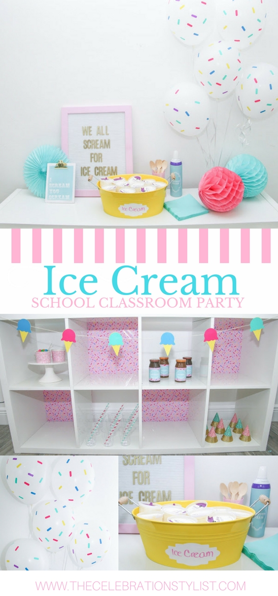 Ice Cream Party with Cricut by The Celebration Stylist