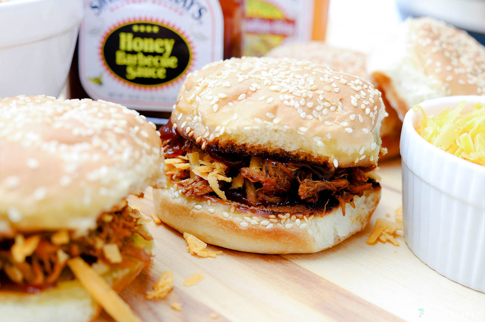 Sweet Baby Ray's Honey Barbecue Shredded Chicken Sandwiches ~ #SweetBabyRays