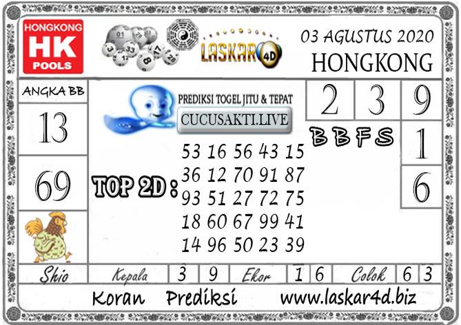 Prediksi Togel HONGKONG LASKAR4D 03 AGUSTUS 2020