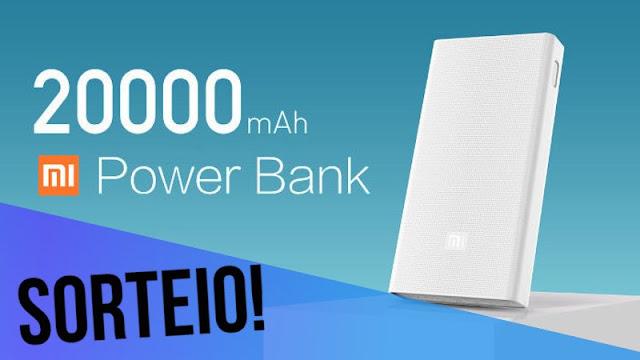 Sorteio Xiaomi Powerbank