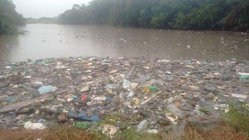 Enchente no Rio Capibaribe traz à tona grande quantidade de lixo jogado no rio em Santa Cruz