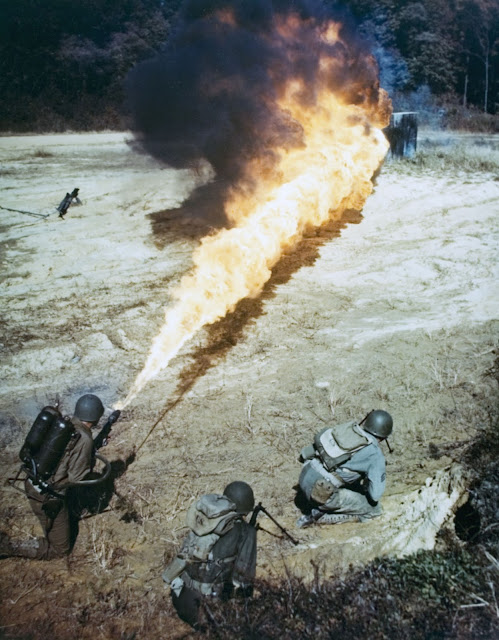 Flamethrower Color photos World War II worldwartwo.filminspector.com