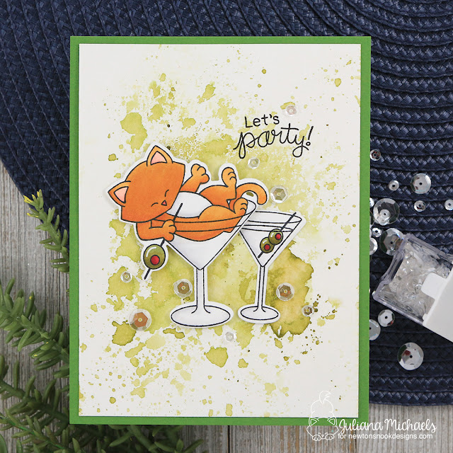 Let's Party Card by Juliana Michaels featuring Newton's Nook Designs Newton Celebrates Stamp Set