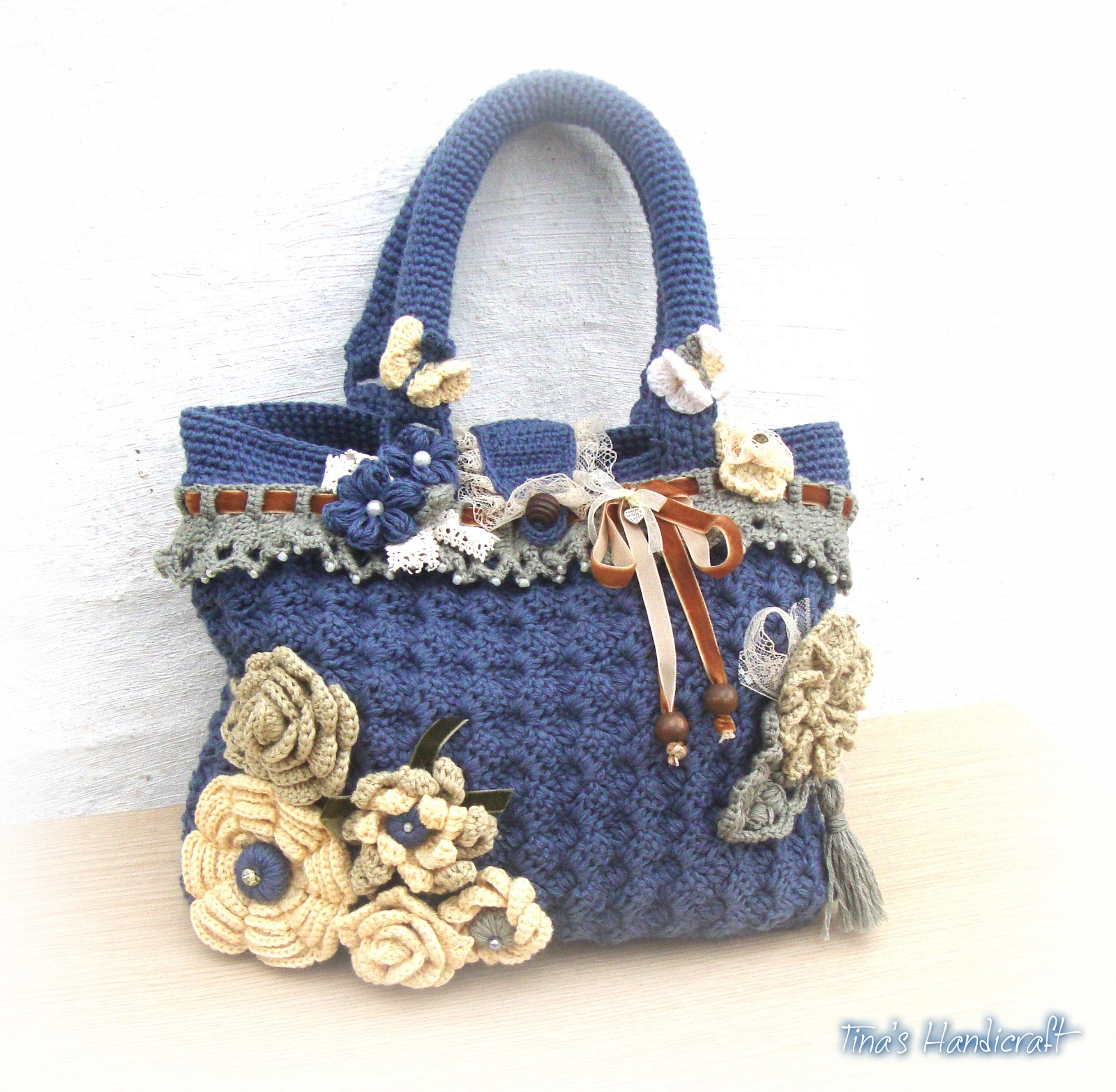 Tinas handicraft : crochet handmade bag