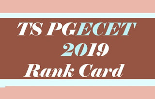 TS PGECET Rank card download 2019