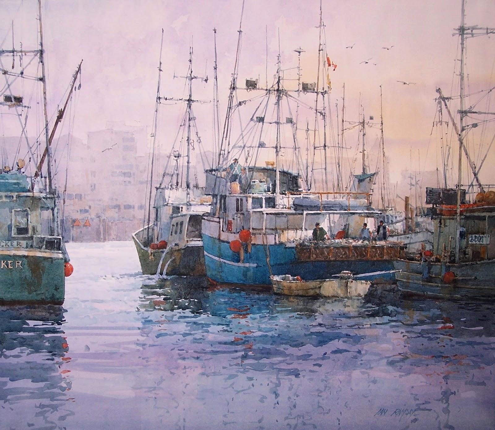 Paintings Maine Fisherman S Wharf