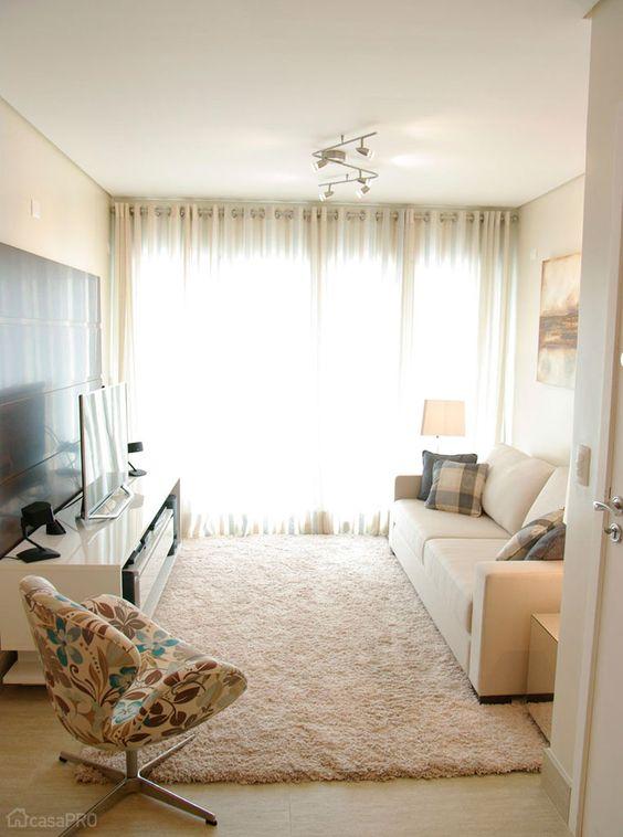 Sala De Estar Junto Con Sala De Tv ~ Decoração de sala de estar  Reciclar e Decorar  Blog de