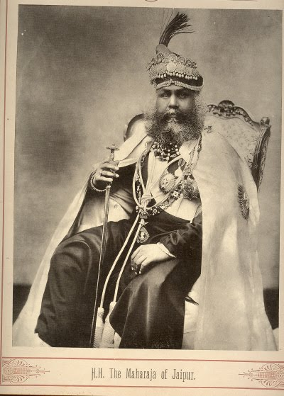 The Majaraja of Jaipur - Late 19th Century Photograph