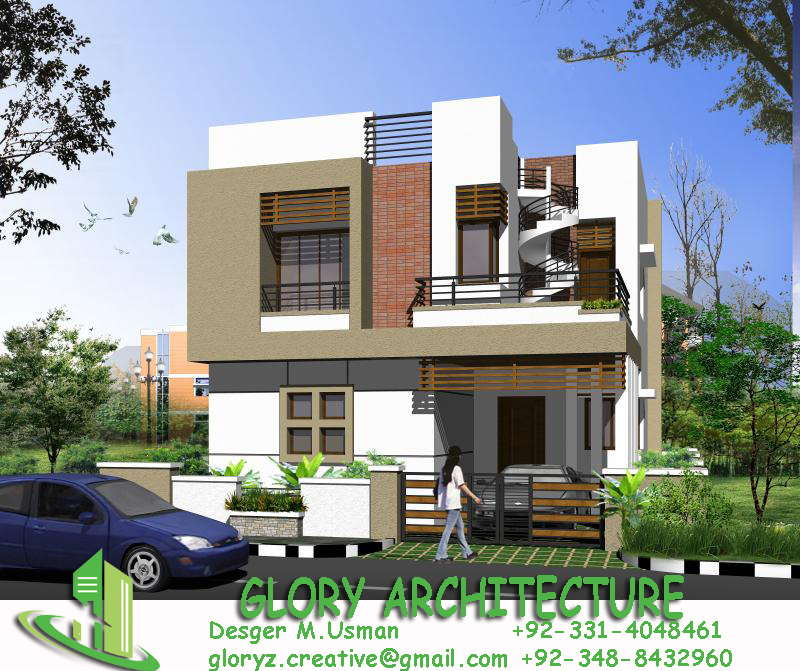 3d Building Elevation 3d Front Elevation: 25x30 House Plan, Elevation, 3D View, 3D Elevation, House