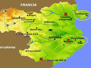 Pueblos De Gerona Mapa.Mis Queridos Cuadernos Girona El Encanto De Los Pueblos