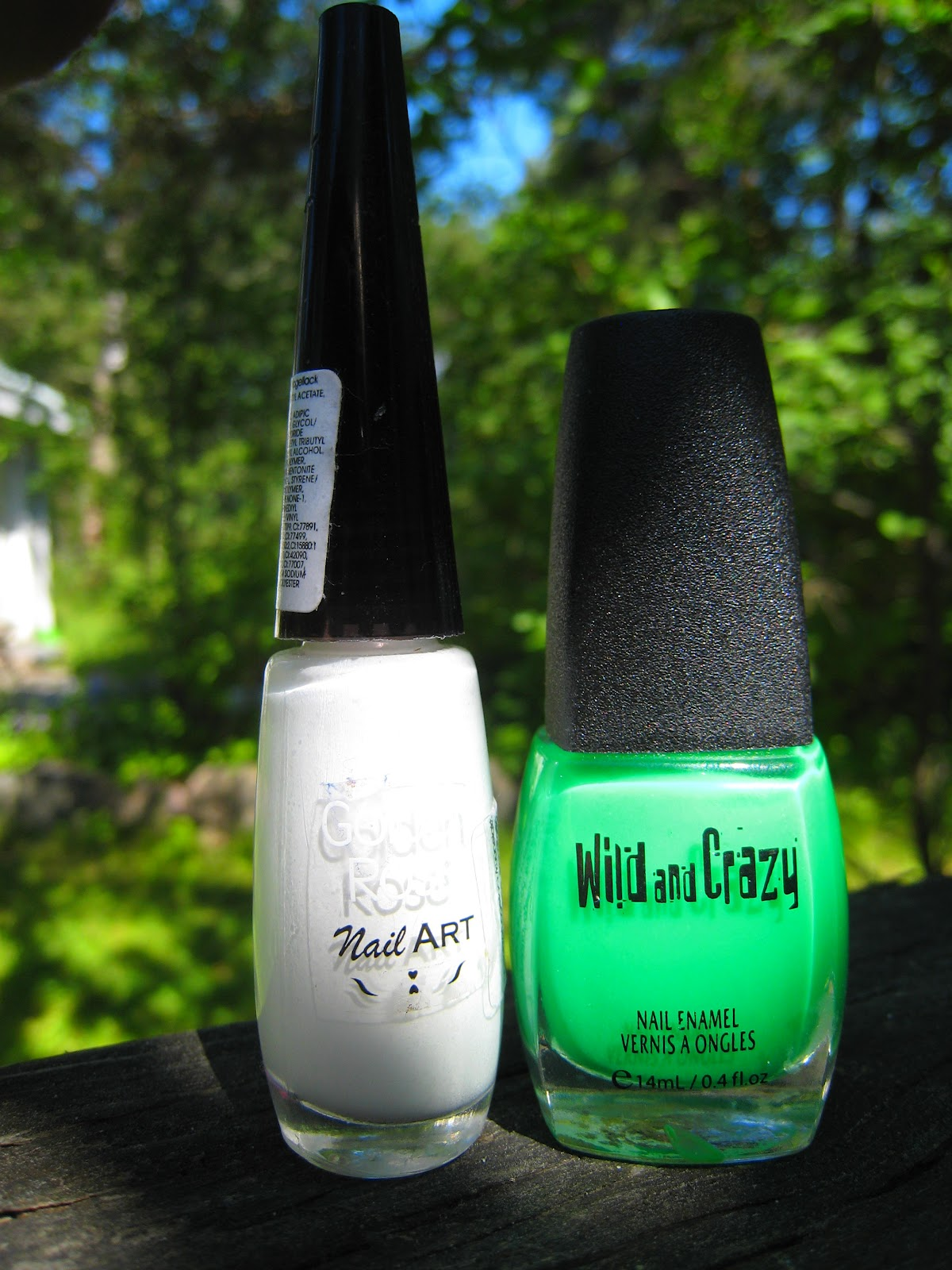 Purple Polish: Neon-Green French Manicure