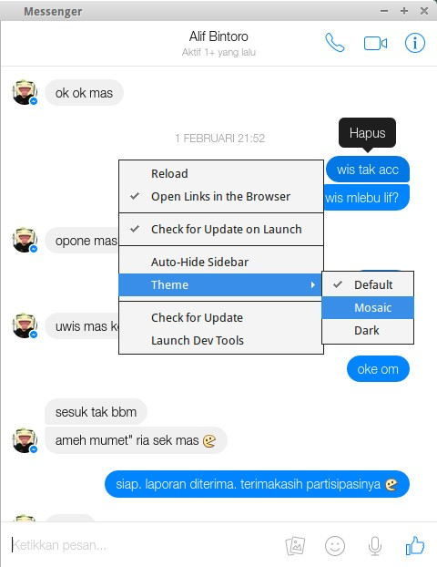 Facebook Messenger for PC Linux Operating System - Linuxslaves
