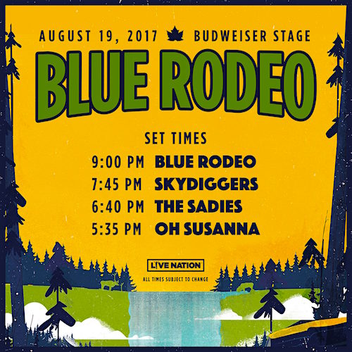 Blue Rodeo @ Budweiser Stage, Saturday