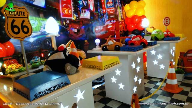 Decoração festa Carros (Disney) - Aniversário infantil