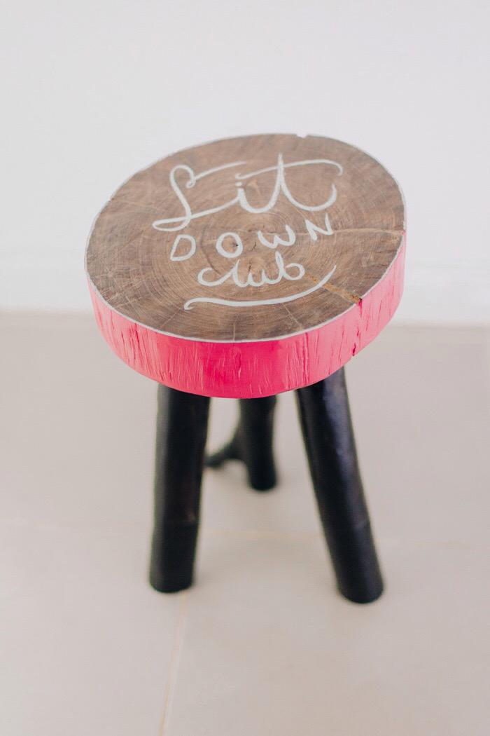 Fantastic Burntfeather Diy Wooden Stool With Lettering Forskolin Free Trial Chair Design Images Forskolin Free Trialorg