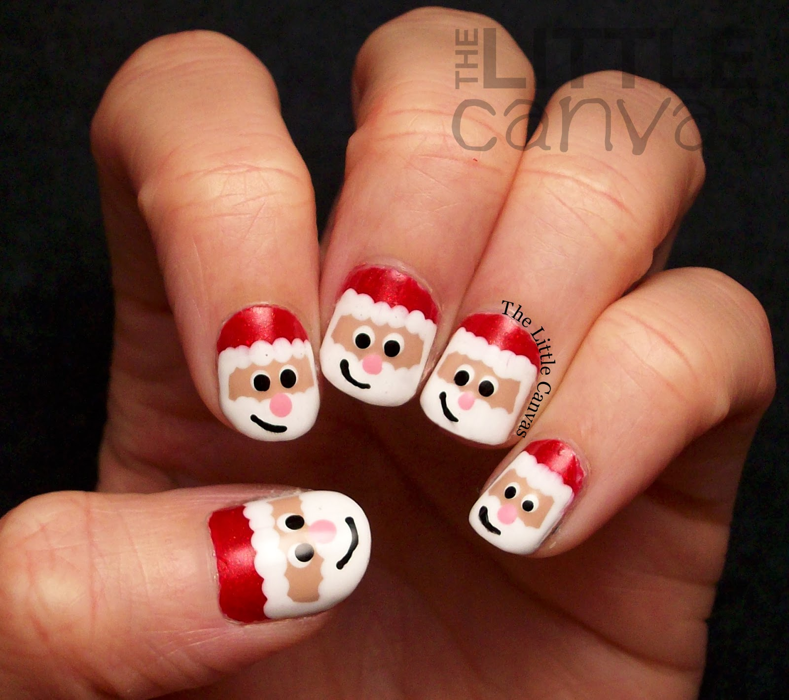 Let S Talk Nail Art: Santa Claus Nail Art