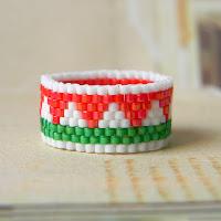 купить украшения ручной работы, бисерные кольца, магазин украшений handmade