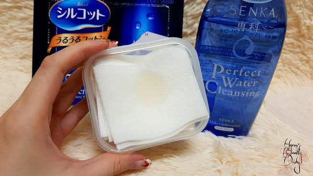 Monthly Project; #17 DIY Cleansing Pads; Senka's Perfect Water Cleansing