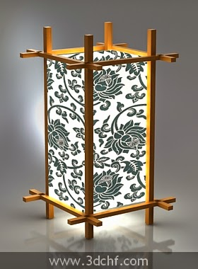 free 3d model chinese lamp