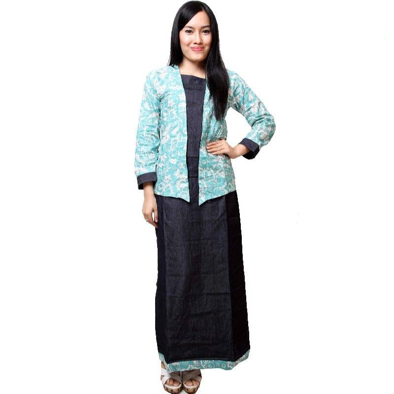 50+ Model Baju Batik Atasan Lengan Panjang Wanita Modern 2019 ... a5ce5a8f45