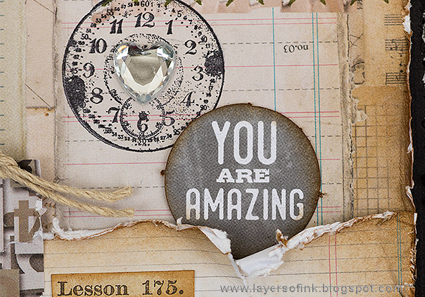 Layers of ink - Notebook Paper Layout by Anna-Karin Evaldsson with Tim Holtz ideaology