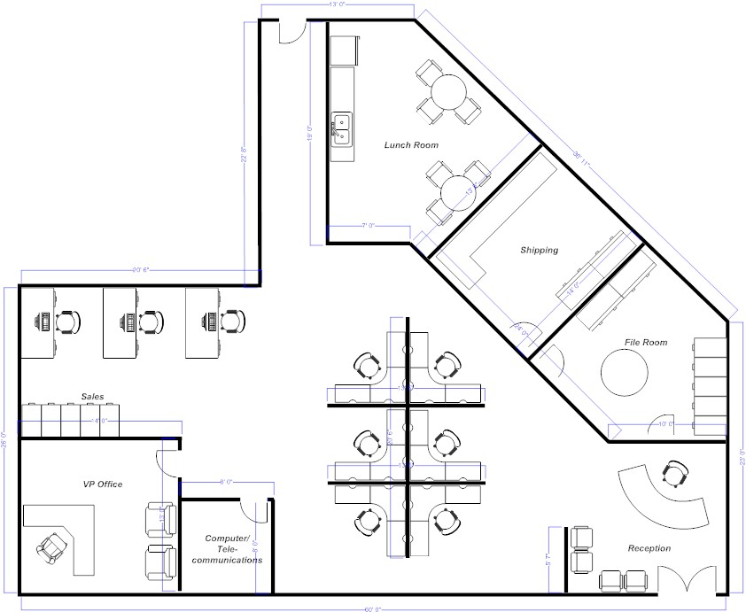 Foundation dezin decor plans for prefect space for Office layout plan design