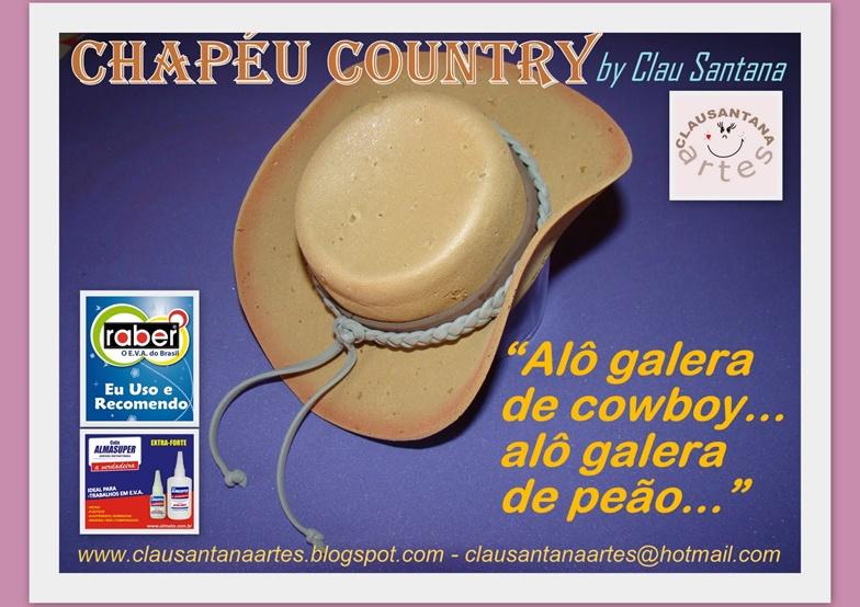 Eu Amo Artesanato  Chapéu country em eva passo a passo 952e847695