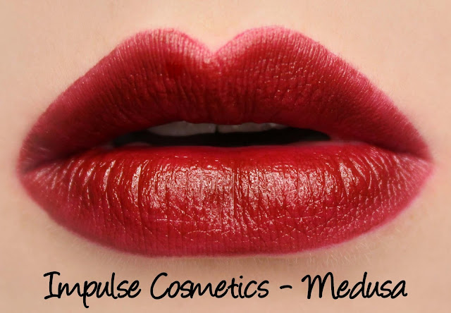 Impulse Cosmetics Lipstick - Medusa Swatches & Review