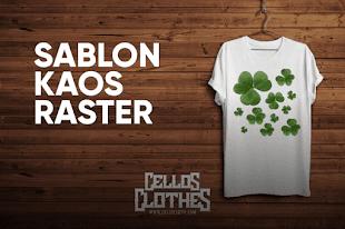 Sablon Kaos Raster Rubber Separasi Spot Color dan CMYK