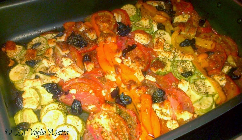 infornata di verdure e feta alla greca