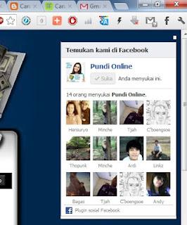 Cara membuat fans page melayang di blog