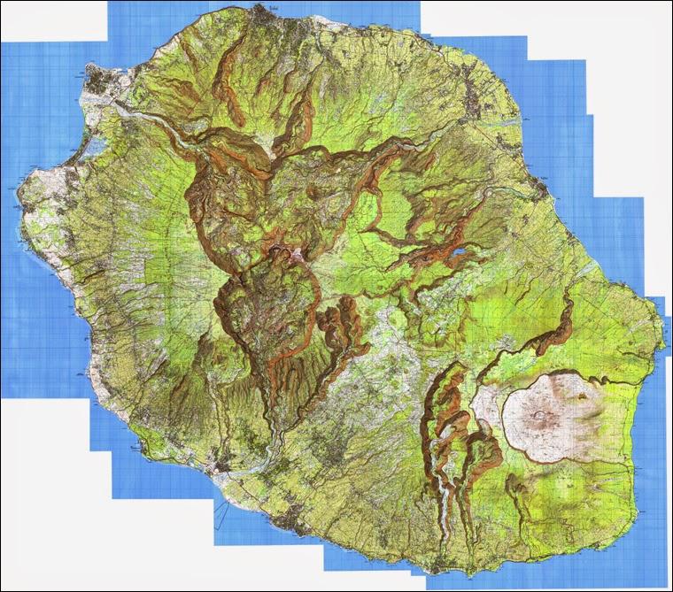 Carte de la Réunion 1 / 25 000
