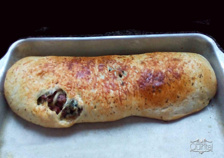 Pão Recheado Fácil na Cozinha do Quintal