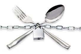 A Picture depicting an attitude of fasting where eating utensils under lock and key