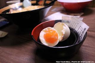 Soft-Boiled Egg at Ichiran Ramen in Tokyo, Japan