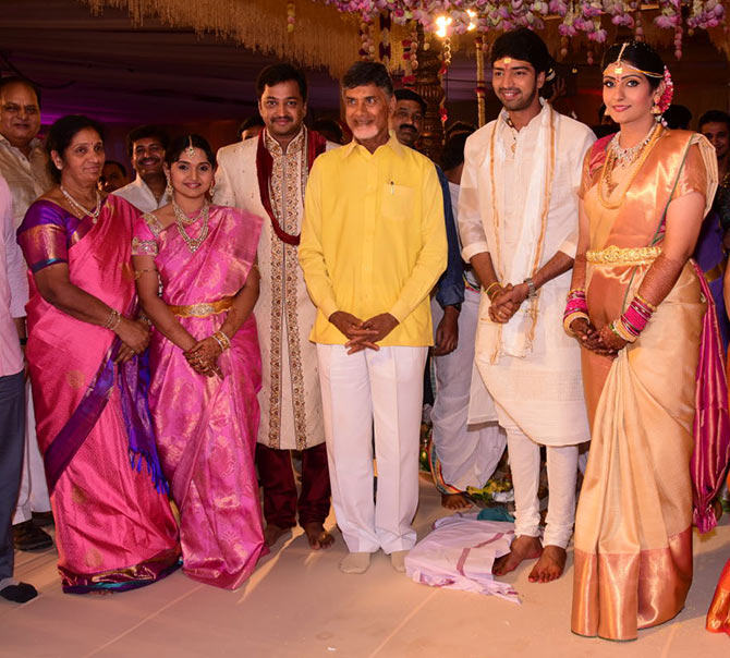 Chandrababu naidu at Allari Naresh wedding