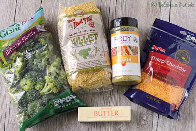 Cheddar Broccoli Millet Ingredients  /  Delicious as it Looks