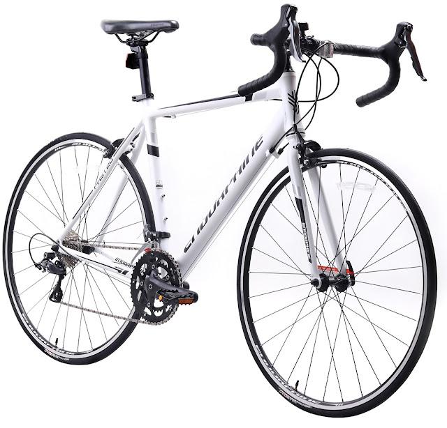 Bicicleta Aro 700 Speed Endorphine Fast 20 - 2018 - Branco e Preto