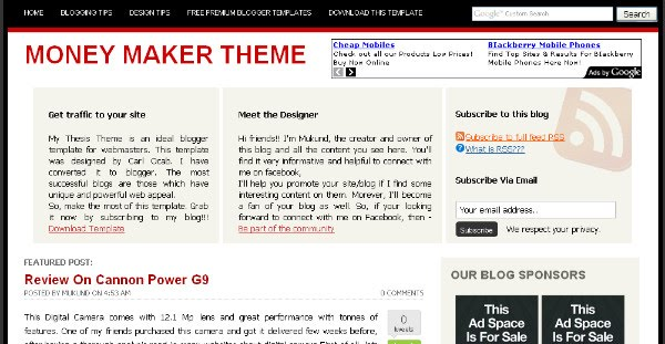 Best Professional Blogger Templates