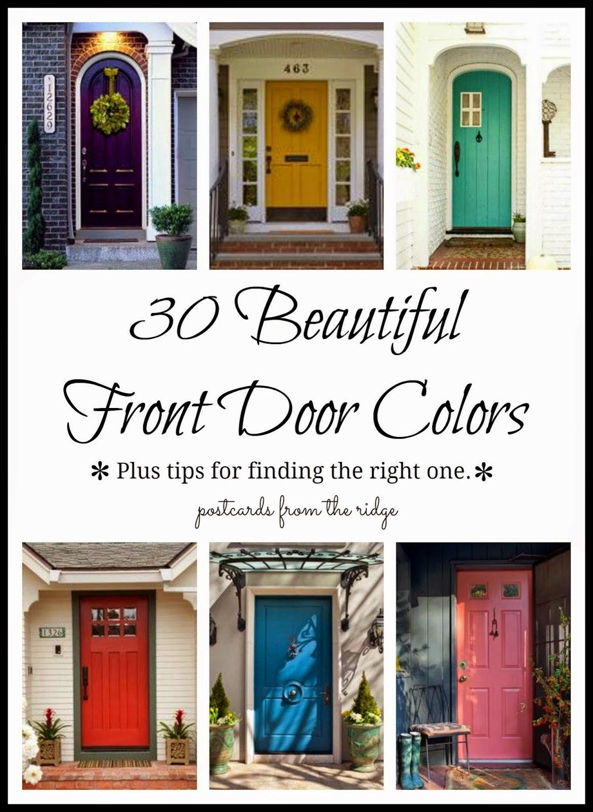 2014 top ten posts postcards from the ridge - Front door colors for brick houses ...