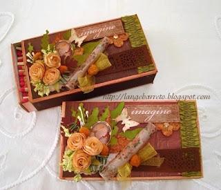 Caixa de fósforo decorada