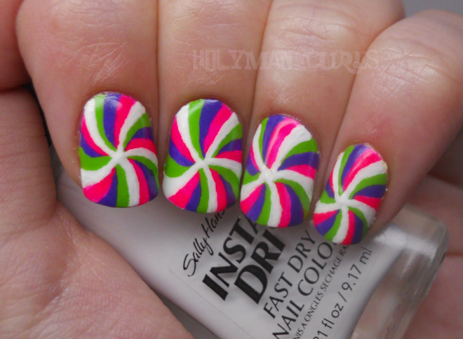 Holy Manicures: Funky Swirl Nails.