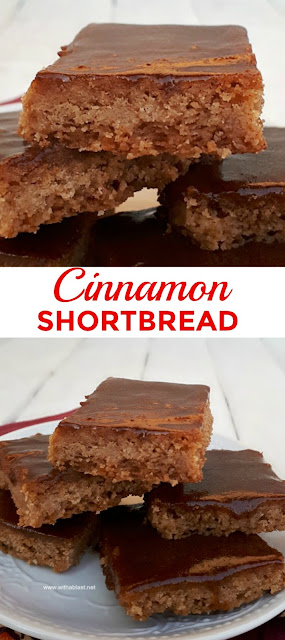 Buttery, melt-in-the-mouth Cinnamon Shortbread is a must to add to your Fall and/or Christmas baking list