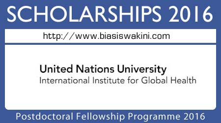 Postdoctoral Fellowship Programme 2016