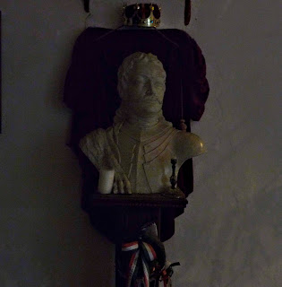 Замок Сент-Миклош. Бюст национального героя Венгрии Ференца II Ракоци, сына Илоны Зрини