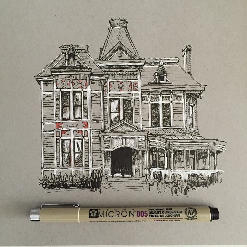 06-Victorian-House-Phoebe-Atkey-Urban-Sketcher-Architectural-Building-Drawings-www-designstack-co