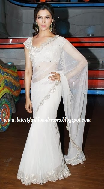 netted material saree in deepika padukon