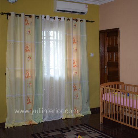 Winnie the Pooh Kids, Children's Room Eyelet Curtains, Port Harcout Nigeria